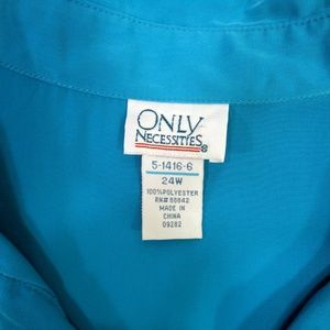 Only Necessities Dresses - Only Necessities Womens Dress Plus 24W Blue Maxi